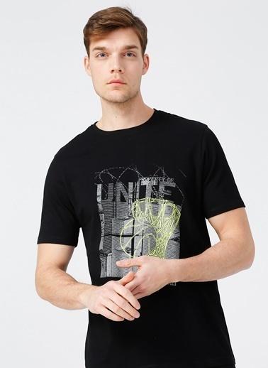 NetWork Network Erkek Slim Fit Bisiklet Yaka T-Shirt Siyah